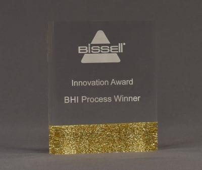 Rounded Glitter Award