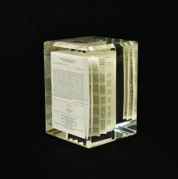 Prospectus Book Lucite Embedment