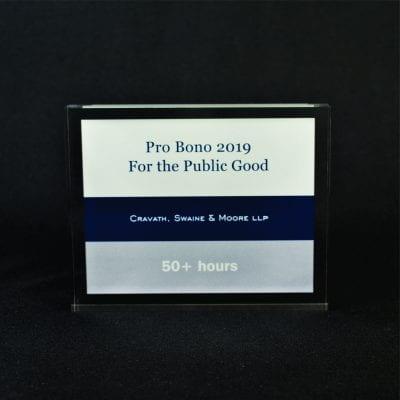 Full Color Printed Award Example 10