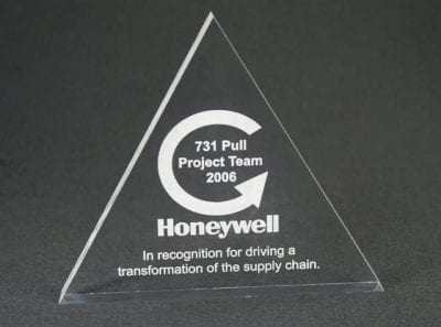 TRL Triangle Paperweight Award