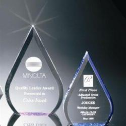 BR003L Acrylic Waterdrop Award