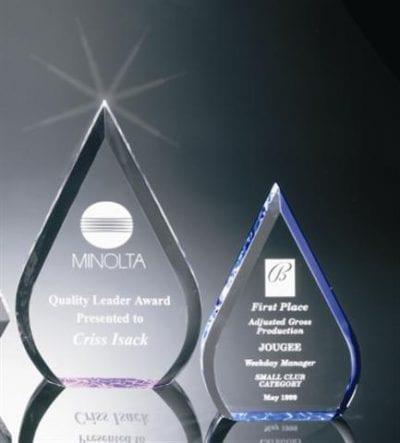 BR003 Acrylic Waterdrop Award