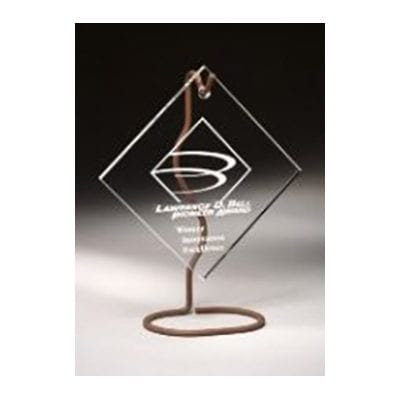 WHAD10 Lucite Diamond Recognition Award