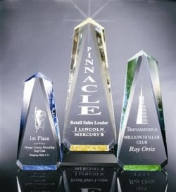 OB1M Acrylic Obelisk Award