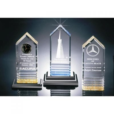 CLT2 Acrylic Beveled Tower Trophy