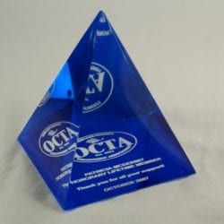 4PM Cast Lucite Pyramid Award