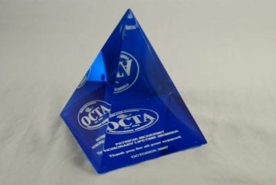 4PM Cast Lucite Pyramid Award