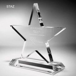 STAZ07 Clear Acrylic Star Trophy