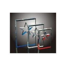 BSC0-L Acrylic Beveled Star Award