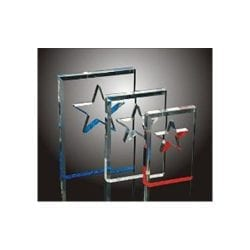 BSC0-M Acrylic Beveled Star Award