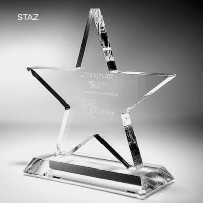 STAZ06 Clear Acrylic Star Trophy