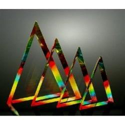 SPCTL Spectrum Triangle Acrylic Trophies