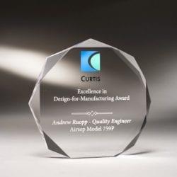 MCBO04 Acrylic Scalloped Circle Award