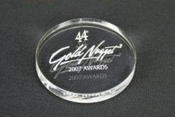 MPC4 Circle Paperweight Award