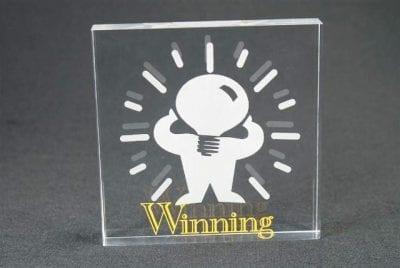 SQL Square Acrylic Award