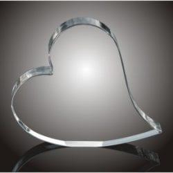 HEART Acrylic Sweeping Heart