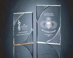 SWRLL Swirl Accented Acrylic Plaque Award