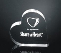 HRT Acrylic Heart Paperweight