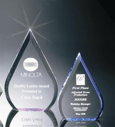 BR003S Acrylic Waterdrop Award
