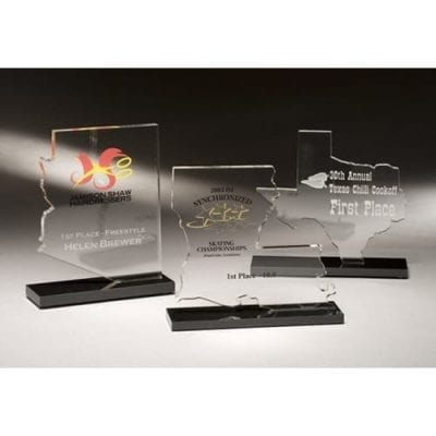 STATES9 Lucite State Cutout Trophy