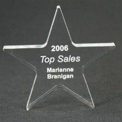 MPSTAR6 Acrylic Star Paperweight Award