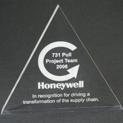 TRS Triangle Paperweight Award