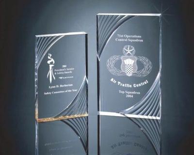 SWRLS Swirl Accented Acrylic Plaque Award