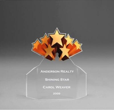 Acrylic Shooting Stars Flair Award