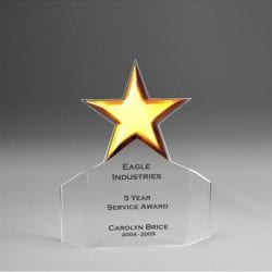Acrylic Star Flair Award