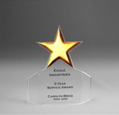 Acrylic Star Flair Award