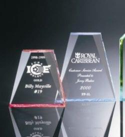 FP1L Acrylic Beveled Wedge Award