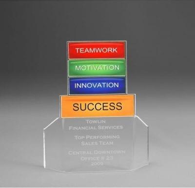 Acrylic Teamwork Flair Award