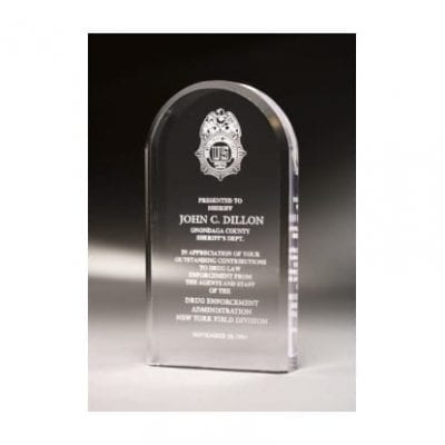 MCOMO5 Acrylic Oval Mini Award