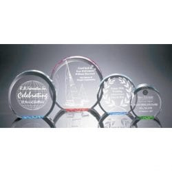 R100M Acrylic Circle Paperweight Award