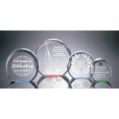 R100M Acrylic Circle Paperweight Award