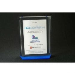 Lucite Financial Tombstone Embedment