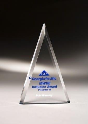 MCTA06 Acrylic Triangle Award
