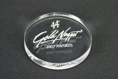 MPC3 Circle Paperweight Award
