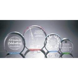 R100S Acrylic Circle Paperweight Award