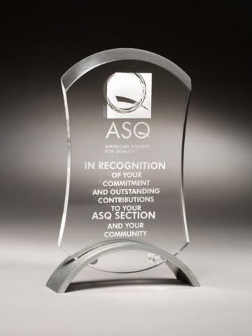 PROB09 Beveled Rectangle Acrylic Trophy