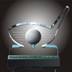 DRIVER BALL Acrylic Golf Ball Holder Award