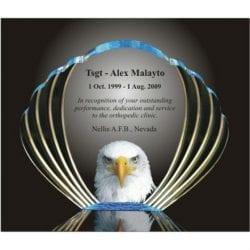 Acrylis Eagle Oval Award