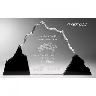 GK5Z07 Acrylic Mountain Perspective Award