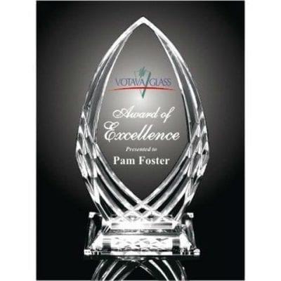 KH01 Waterford Crystal Cut Acrylic Award