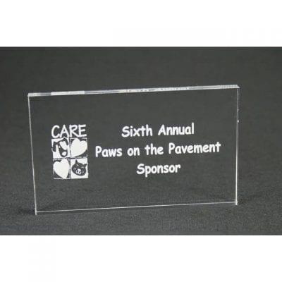 MPR4 Acrylic Rectangle Paperweight Award