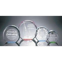 R100XL Acrylic Circle Paperweight Award