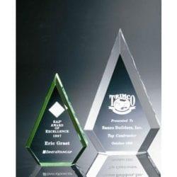 BR004M Beveled Acrylic Peak Award