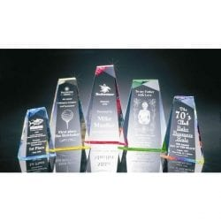 BR016W Acrylic Pinnacle Recognition Award