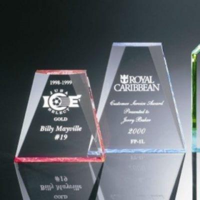 FP1S Acrylic Beveled Wedge Award
