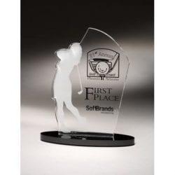 SIGOF Female Acrylic Golf Award